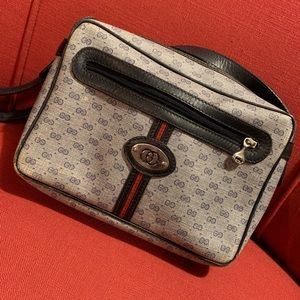Vintage Micro Supreme GG Gucci Crossbody Bag